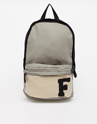 French Connection Fcuk Canvas Backpack Black