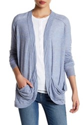 Inhabit Slouch Silk And Linen Blend Knit Cardigan Gray