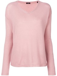 Aspesi V Neck Sweater Pink And Purple