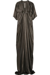 Rick Owens Kite Satin Gown Dark Gray