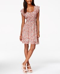 American Rag Printed Smocked Ruffle Hem Dress Only At Macy's Bee Haven