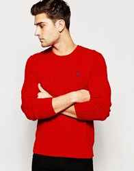 Polo Ralph Lauren Jumper With Cable Knit Red