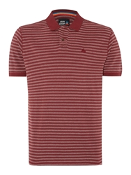 Army And Navy Hendre Stripe Polo Shirt Burgundy