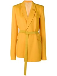 House Of Holland Tailored Blazer Yellow And Orange