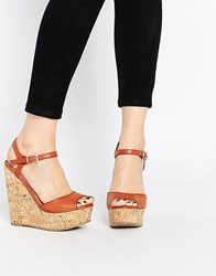 Asos Twirl Wide Fit Wedges Tan