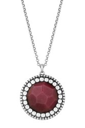 Lucky Brand Red Dyed Jade Pendant Necklace
