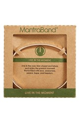 Mantraband Women's Live In The Moment Engraved Cuff Rose Gold