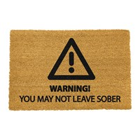 Artsy Doormats Sober Warning Door Mat