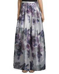 Kay Unger New York Floor Length Floral Print Skirt