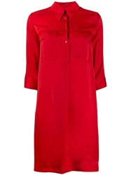 Zadig And Voltaire Roa Chemise Dress Red