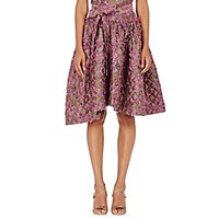 Jourden Women's Floral Ruffle Full Skirt Pink