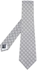Giorgio Armani Patterned Tie Grey