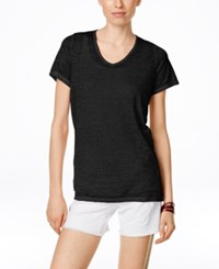Inc International Concepts Short Sleeve Washed T Shirt Only At Macy's Deep Black