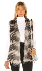 Cupcakes And Cashmere Vivianna Faux Fur Vest In Gray. Grey