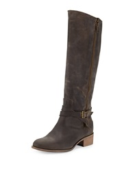 Charles David Gratex Low Heel Knee High Boot Dk Brown