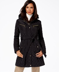 Michael Michael Kors Quilted A Line Trench Coat