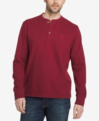 G.H. Bass And Co. Men's Henley Pomegranate Heather