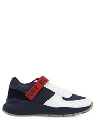 Burberry Leather Sneakers Navy