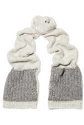 Sandro Knitted Scarf Light Gray