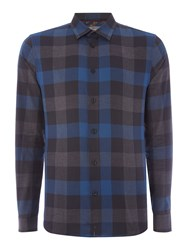Linea Men's Laval Check Long Sleeve Shirt Navy