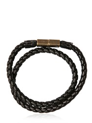 Diesel Woven Faux Leather Bracelet