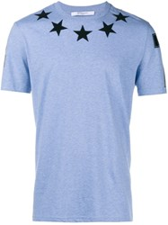 Givenchy Cuban Fit Stars T Shirt Blue