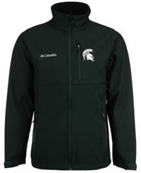 Columbia Men's Michigan State Spartans Ascender Softshell Jacket Green