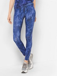 Michael Michael Kors Active Tie Dye Print Leggings Blue