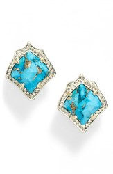 Kendra Scott Women's Kirstie Stud Earrings Turquoise Magnesite Gold