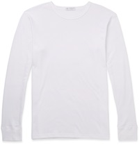 Sunspel Thermal Jersey T Shirt White