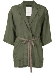 Song For The Mute Waist Tied Blazer Green
