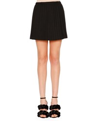 Marco De Vincenzo Plisse Mini Skirt Black