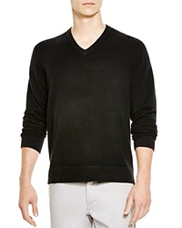 The Men's Store At Bloomingdale's V Neck Cashmere Sweater Black