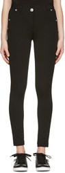 Versus Black Skinny High Rise Trousers