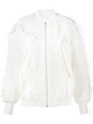 Jonathan Simkhai Textured Bomber Jacket Nude And Neutrals
