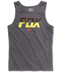 Fox Men's Katch Logo Print Cotton Tank Charchaol Heather