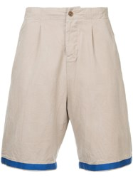 Kent And Curwen Contrast Trim Shorts Brown