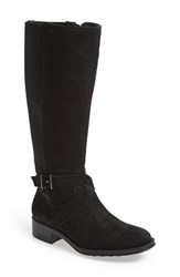 Women's Andre Assous 'Seabiscuit' Waterproof Riding Boot Black Suede