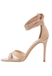Dorothy Perkins Sound High Heeled Sandals Peach Nude
