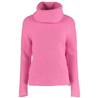 Lowie Virgin Wool Chunky Roll Neck Jumper In Neon Pink