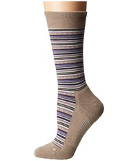 Feetures Horizon Cushion Crew Sock Oatmeal Crew Cut Socks Shoes Brown
