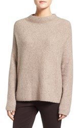 Eileen Fisher Women's 'Boucle Bliss' Cashmere And Silk Blend Funnel Neck Sweater Maple Oat