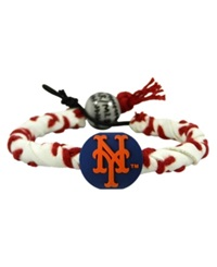 Game Wear New York Mets Frozen Rope Bracelet White Red