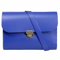 N'damus London Helena Royal Blue Leather Satchel