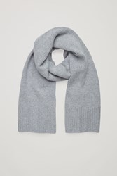 Cos Cashmere Blend Scarf Grey