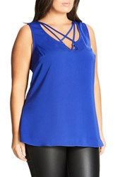 City Chic Plus Size Women's Strappy Lover Tank Pool