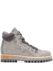 Le Silla St. Moritz Hiking Boots Silver