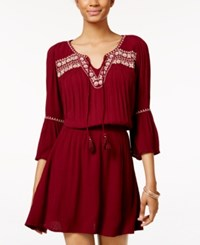 American Rag Embroidered Peasant Dress Only At Macy's Zinfandel