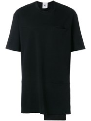 Lost And Found Rooms Double Pocket T Shirt Cotton Black