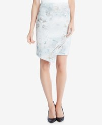 Karen Kane Printed Asymmetrical Skirt White